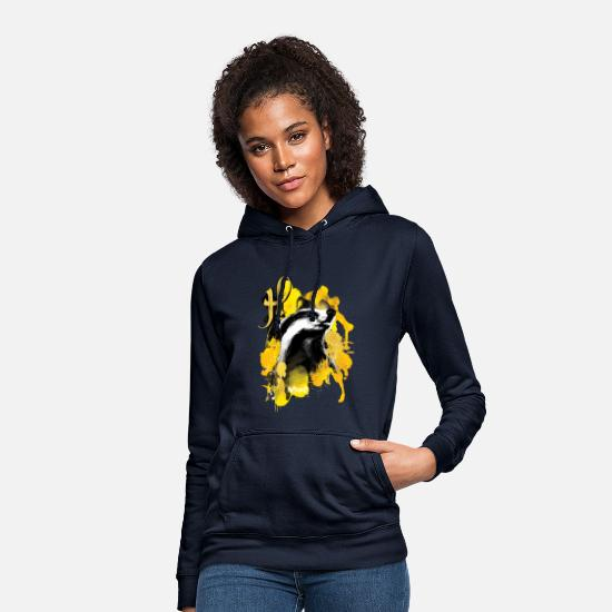 Potter Tröjor & hoodies - Harry Potter Hufflepuff Badger - Hoodie dam marinblå