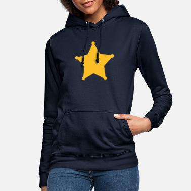 Sheriff Sheriff Star, Old West, Wild, American, Badge - Women's Hoodie