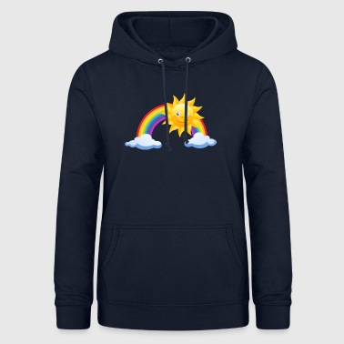 Rainbow with sun and clouds - Women's Hoodie