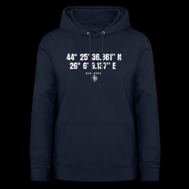Bucharest Geocacher coordinates Gift Europe - Women's Hoodie