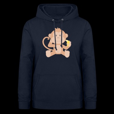 Monkey with banana - Women's Hoodie