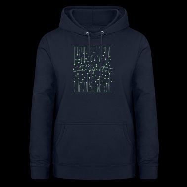 Hanging asterisks with squiggles and arrows - Women's Hoodie