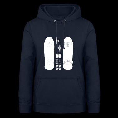 Skateboard Pieces - Women's Hoodie