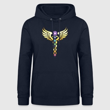 CADUCEUS chakras, serpent wings, caduceus, - Women's Hoodie