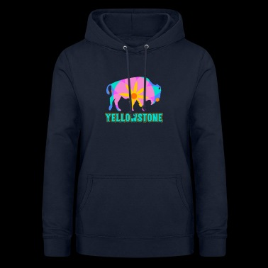 Yellowstone Bison Mandala Art Wildlife Recreation - Women's Hoodie