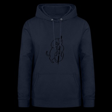Cat on the double bass - Women's Hoodie