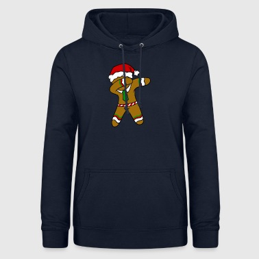 Dabbing Gingerbread Necktie Funny Xmas Holiday Pun - Women's Hoodie