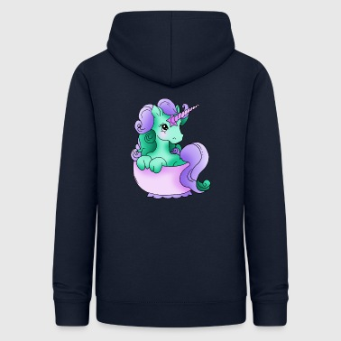 Unicorn in the cup of purple green lilac - Women's Hoodie