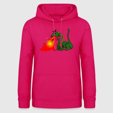 Dragon which spits fire - Women's Hoodie