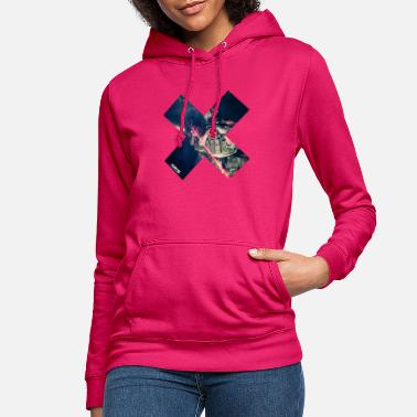 Methodist Cross ART15 blue cross - Women's Hoodie