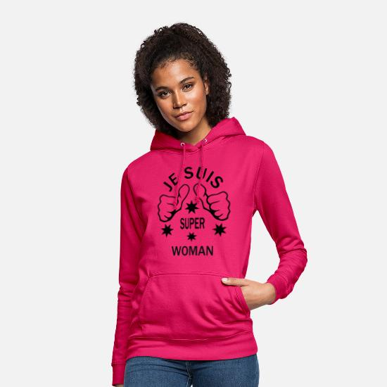 Superwoman Sweat-shirts - WOMAN - Sweat à capuche Femme rubis