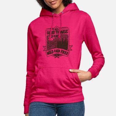 Wilderness Nature River Forest Wild Wilderness Outdoor Gift - Women's Hoodie