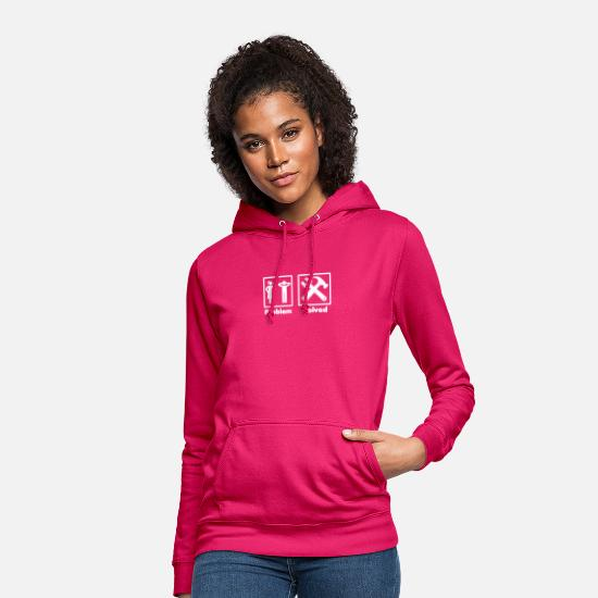 Haha Hoodies & Sweatshirts - problem solved homework - Women's Hoodie dark pink