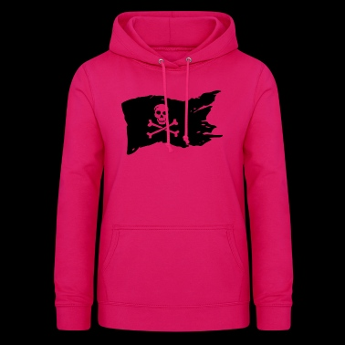 Pirate Flag Skull Pirate - Women's Hoodie
