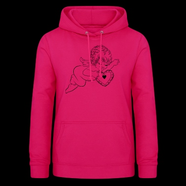 Angel and heart - Women's Hoodie