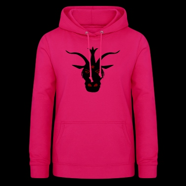 Dark devil with horns - Women's Hoodie