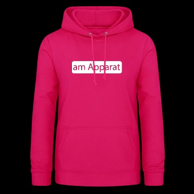on the phone - Women's Hoodie