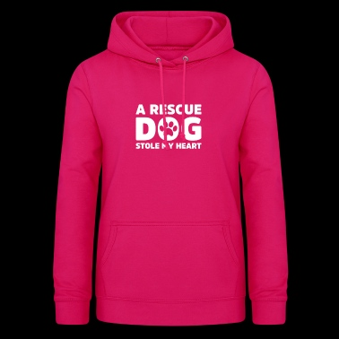 A Rescue dog stole my heart - Women's Hoodie
