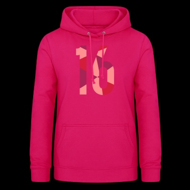 16th birthday - in polygon design - Women's Hoodie