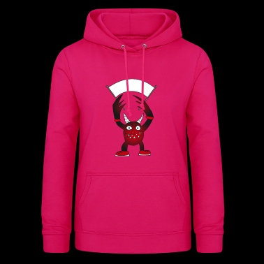 Devil with horns wants to play - Women's Hoodie