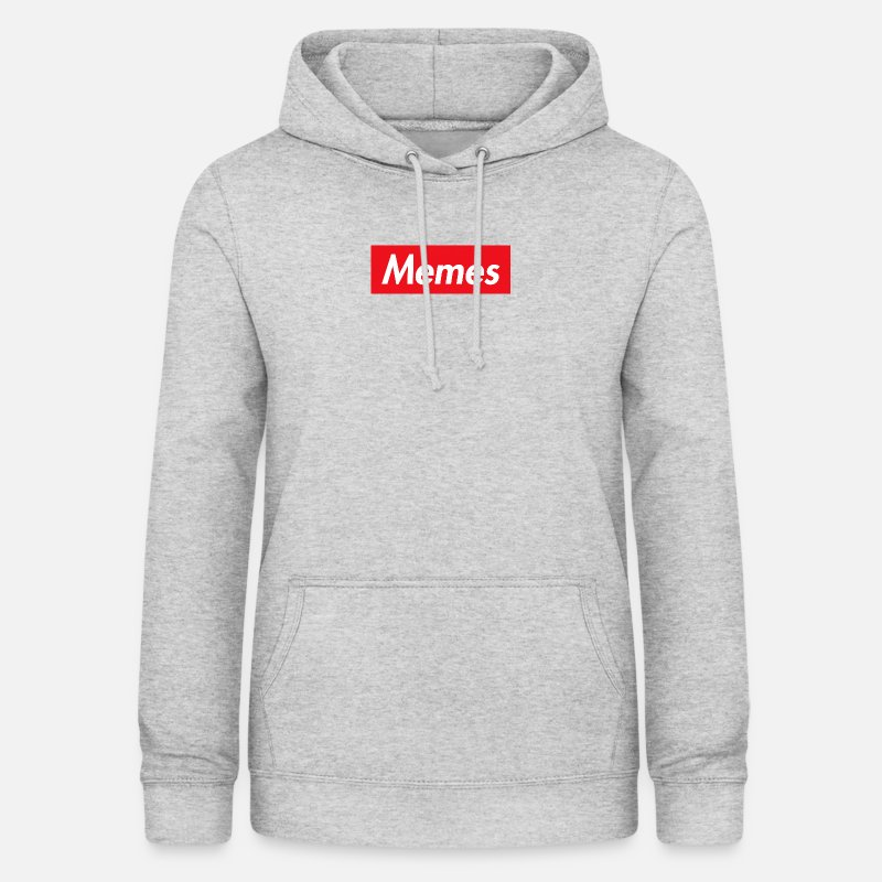 Meme Hoodies & Sweatshirts - memes - Women's Hoodie heather grey
