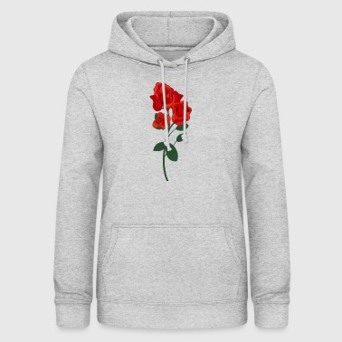 Red rose - Women's Hoodie
