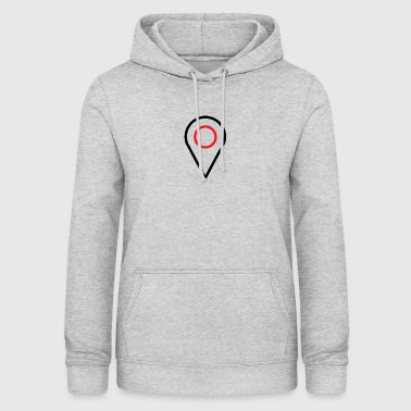 Point, meeting place, place, logistics - Women's Hoodie