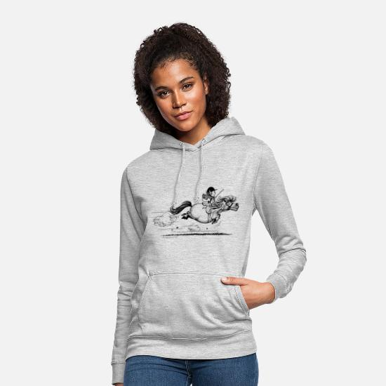Collection For Kids Hoodies & Sweatshirts - PonySprint Thelwell Cartoon - Women's Hoodie light heather grey