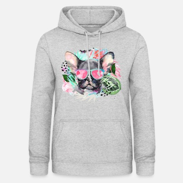 Animal Planet Cute Frenchie With Sunglasses - Women's Hoodie