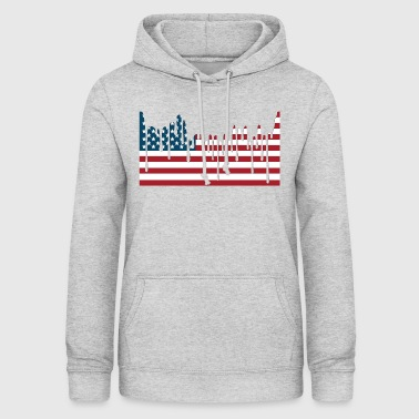 USA FLAG Tee Shirts - Sweat à capuche Femme