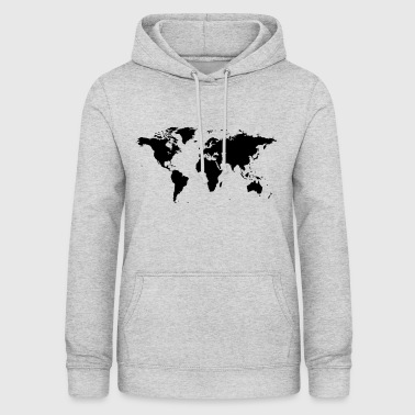Shop world map hoodies sweatshirts online spreadshirt map of the world women39s hoodie gumiabroncs Image collections