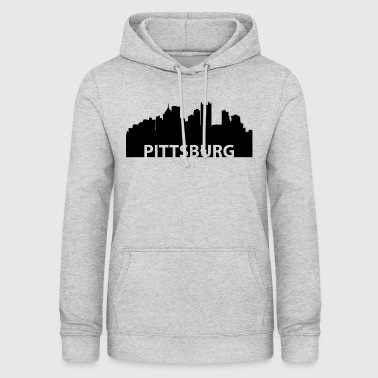 Skyline de Pittsburgh à Pittsburgh - Sweat à capuche Femme