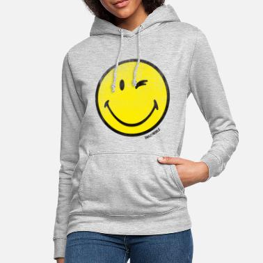 SmileyWorld Zwinkernder Smiley Used Look - Frauen Hoodie