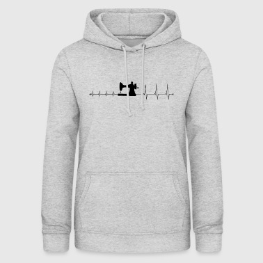 Heartbeat sy - jeg elsker at sy - Dame hoodie