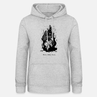 Burning Burn Baby Burn - Burning Klansman - Women's Hoodie