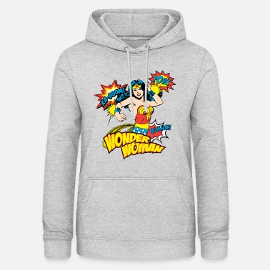 Wonder Woman DC Comics Wonder Woman Rétro Onomatopées - Sweat à capuche Femme