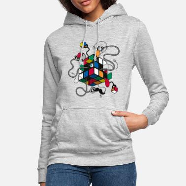 Cube Rubik's Cube Illustration - Sweat à capuche Femme