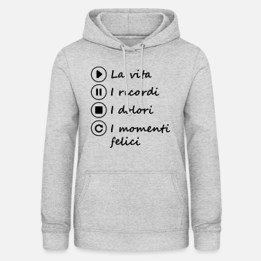 Life Remember Pains Happy moments black - Vrouwen hoodie