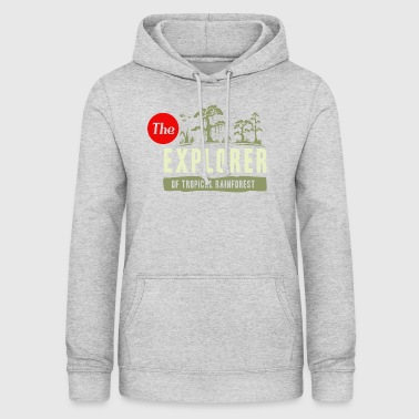Rainforest Explorer - Felpa con cappuccio da donna