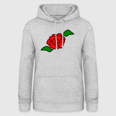 Rose red flower - Women's Hoodie