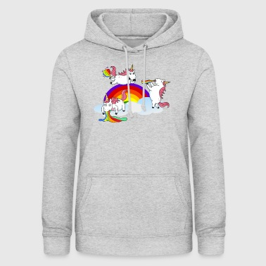 Unicorn vomiting Furzen drinking - Women's Hoodie
