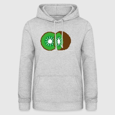 Double Pixel Kiwi Art - Sweat à capuche Femme