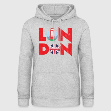 London - City Break - Gift - Telephone Booth - Women's Hoodie