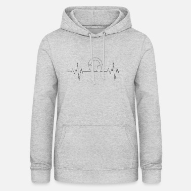 heartrate headphones - Frauen Hoodie