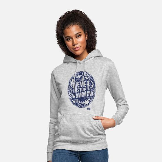 Swimming Hoodies & Sweatshirts - Animal Planet Sharks Never Stop Swimming - Women's Hoodie light heather grey
