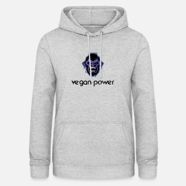 Gorilla vegan power - Women's Hoodie