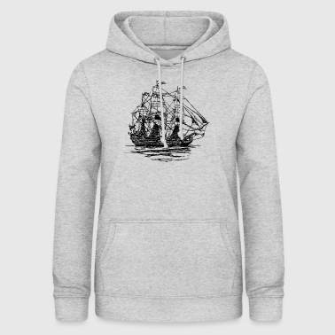pirate ship boat pirat piratenschiff schiff skull1 - Frauen Hoodie