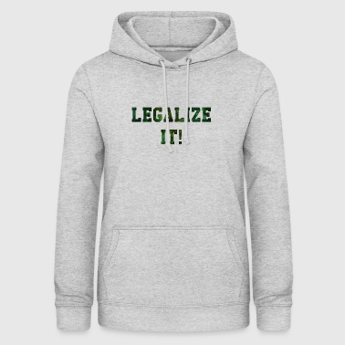 Legalize It - Bluza damska z kapturem