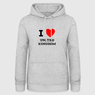 i love United Kingdom - Frauen Hoodie