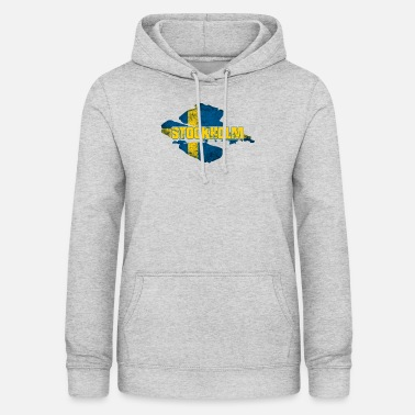 Stockholm - Swedish Flag Sweden Design - Women's Hoodie